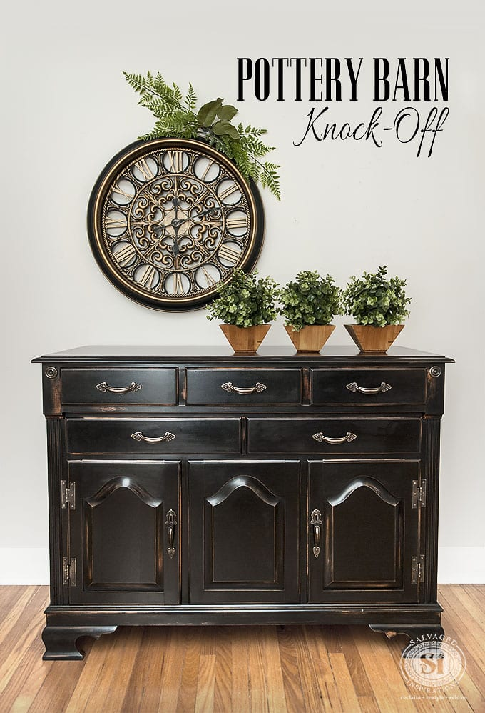 Diy pottery barn knock off salvaged inspirations for Black furniture